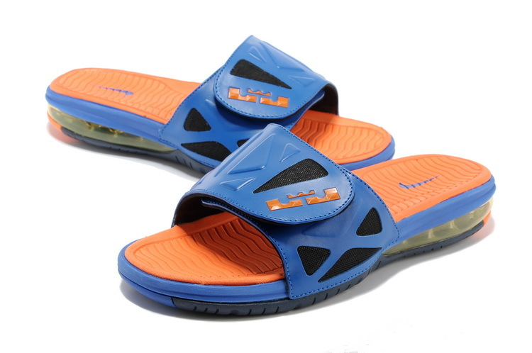 Nike Lebron Hydro Blue Orange Red Sandals