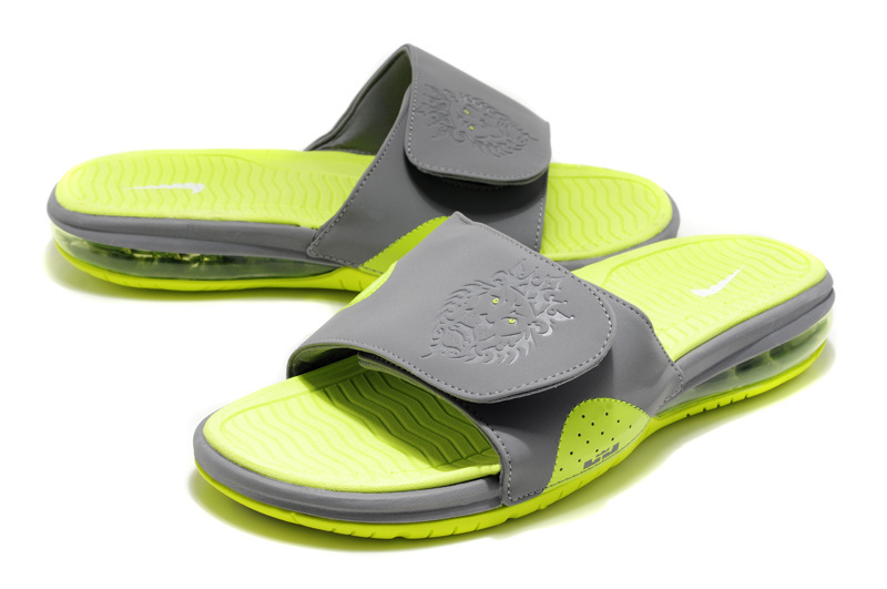 Nike Lebron Hydro Grey Fluorescent green Sandals