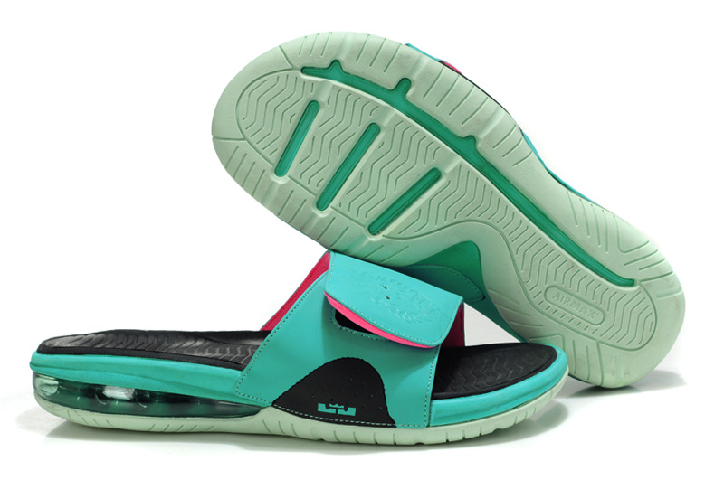 Nike Lebron Hydro Off the coast of green Sandals