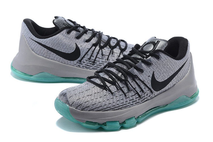 Nike KD 8 Grey White Basketball Shoes