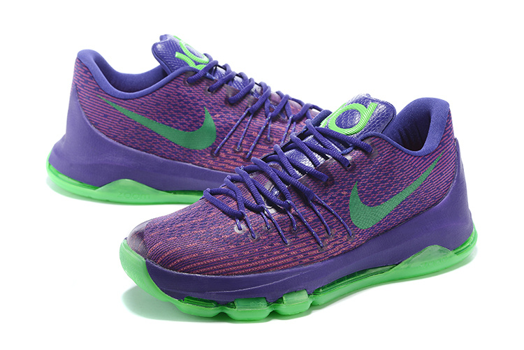 Nike KD 8 Purple Green Basketball Shoes