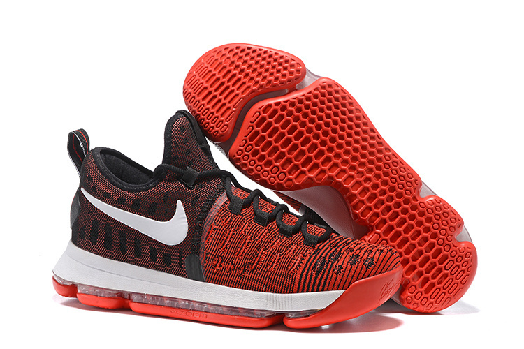 Nike KD 9 Black Red Air Cushion Basketball Shoes