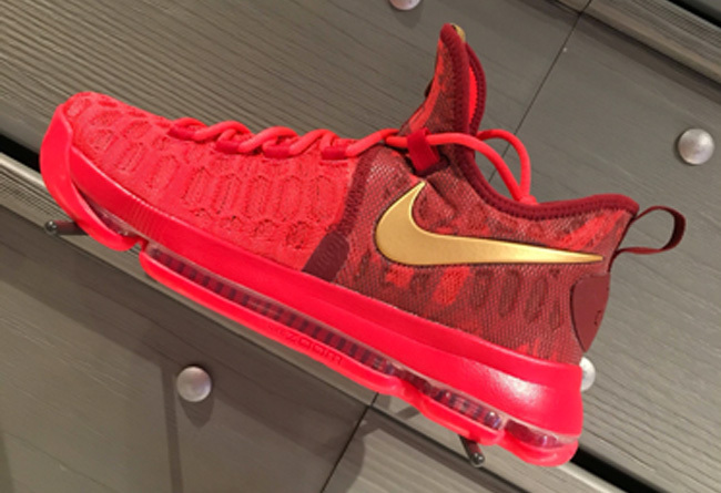 Nike KD 9 Chinese Red Basketball Shoes