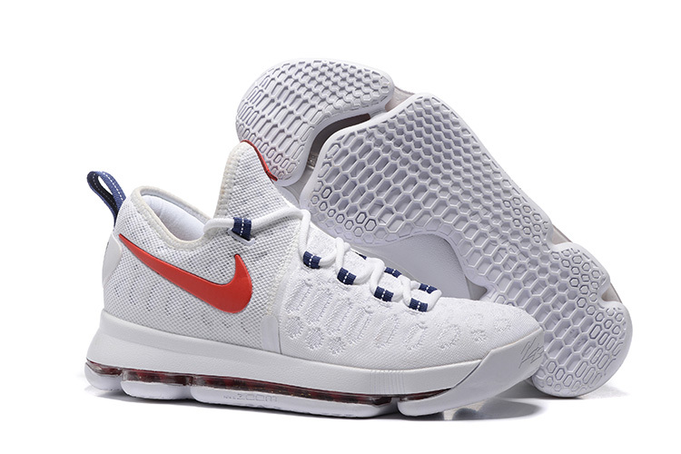 Nike KD 9 Indenpent Day White Red Basketball Shoes