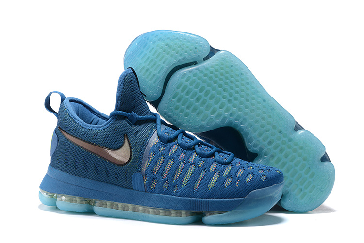 Nike KD 9 Laker Blue Fluorescent green Shoes
