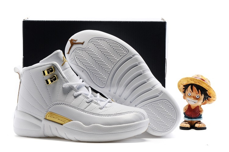 Nike Kids Air Jordan 12 OVO White Gold Shoes