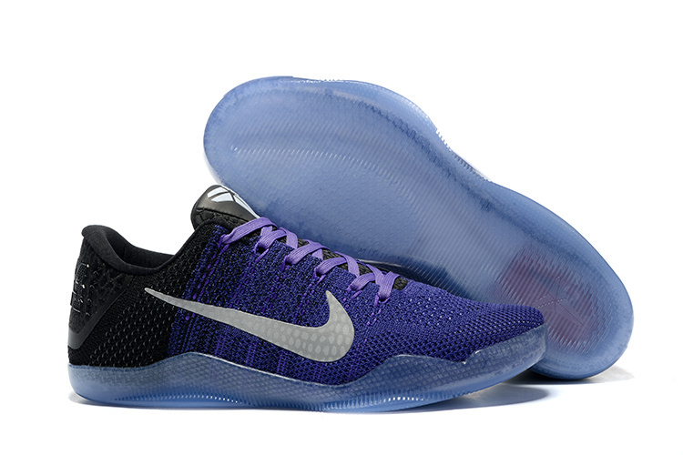 Nike Kobe 11 LA Lakers Purple Woven Basketball Shoes