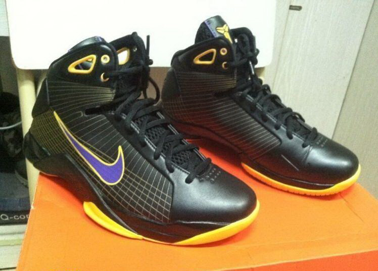 Nike Kobe 4 Olympic Lakers Theme Basketabll Shoes