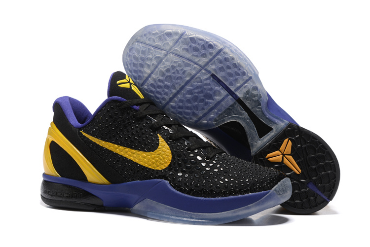 Nike Kobe 6 Black Purple Yellow Shoes