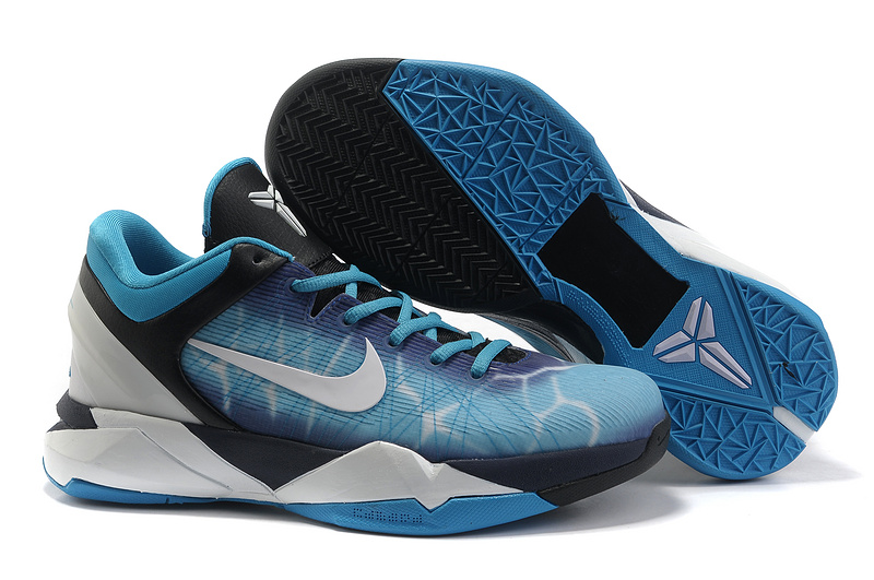 Nike Kobe 7 Shark Blue Black White Sneaker