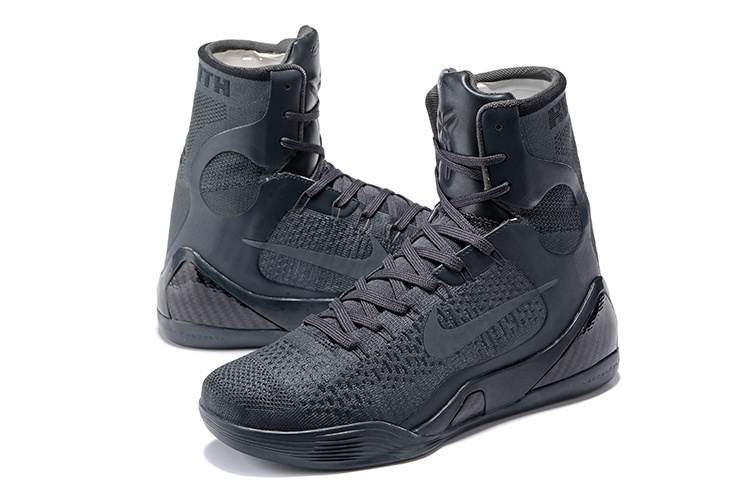 Nike Kobe 9 High Carbon Black Basketball Shoes