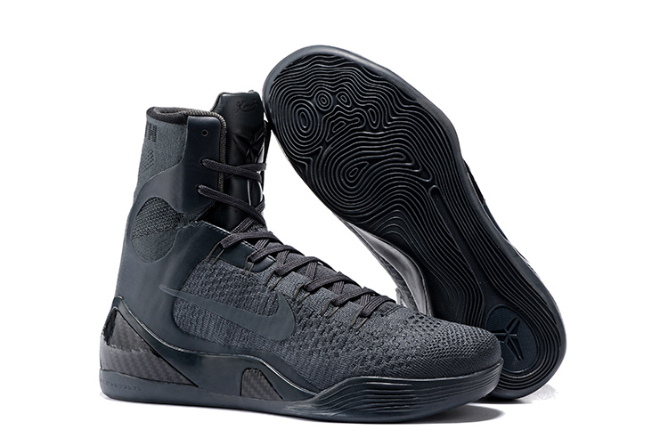 Nike Kobe 9 High Carbon Grey Basketball Shoes