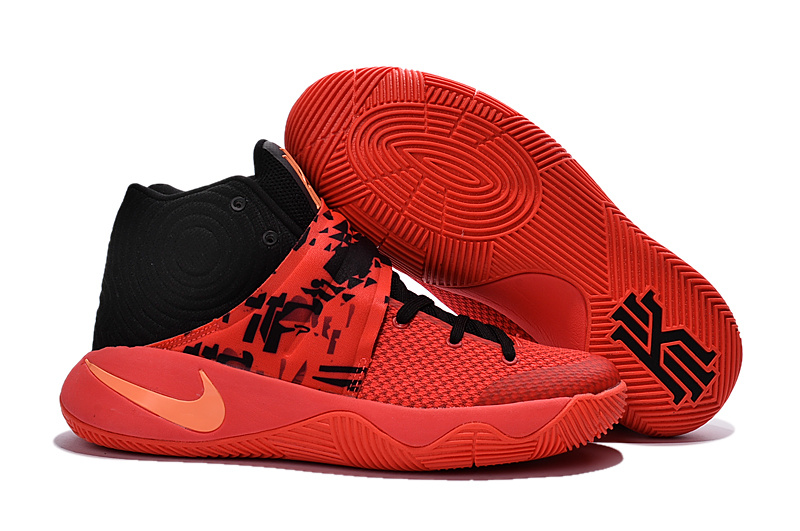 Nike Kyrie 2 Orange Red Black Basketball Shoes