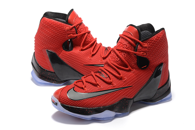 Nike LeBron 13 Elite Red Black Shoes