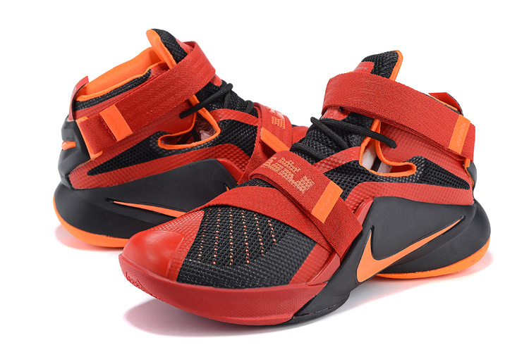 Nike LeBron Soldier 9 Black Red Basketball Shoes