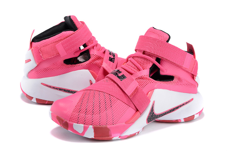 Nike LeBron Soldier 9 Breast Cancer Basketball Shoes