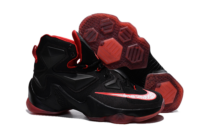 Nike Lebron New Style Shoes Lebron 13 Black Gym Red White Shoes On Sale
