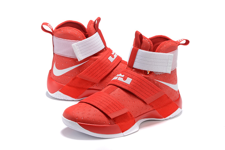 Nike Lebron Soldier 10 Red Basketball Shoes
