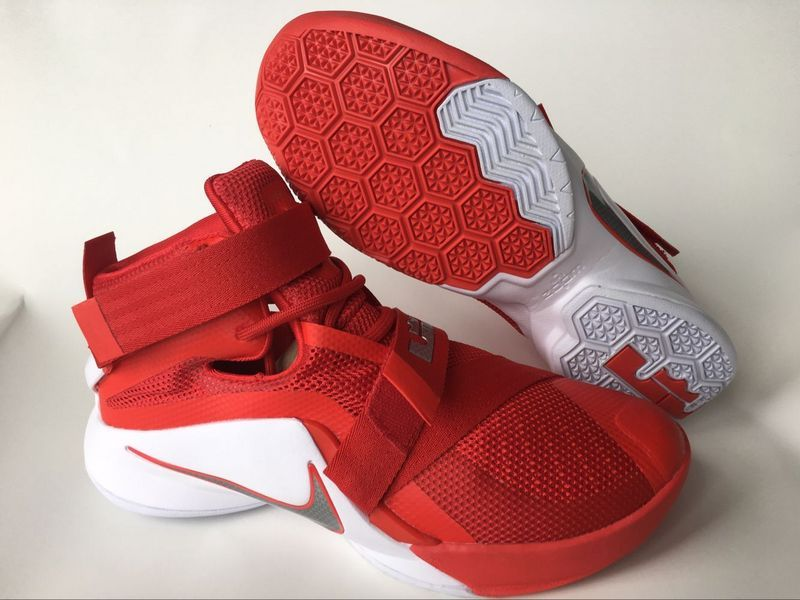 Nike Lebron Soldier 9 Red White Basketabll SHoes