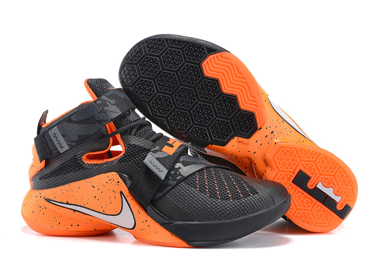 Nike Solider 9 Black Orange Shoes