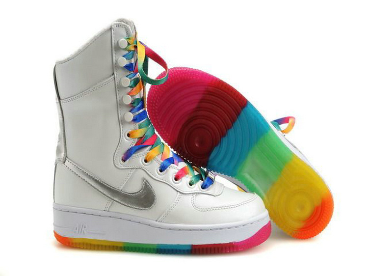 Nike Women Air Force 1 High Rainbow Dancing Boot