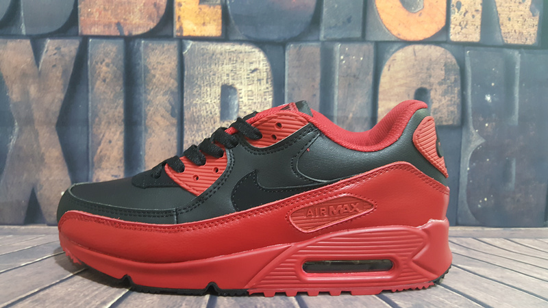 Nike Women Air Max 90 Win Red Black Running Sneaker