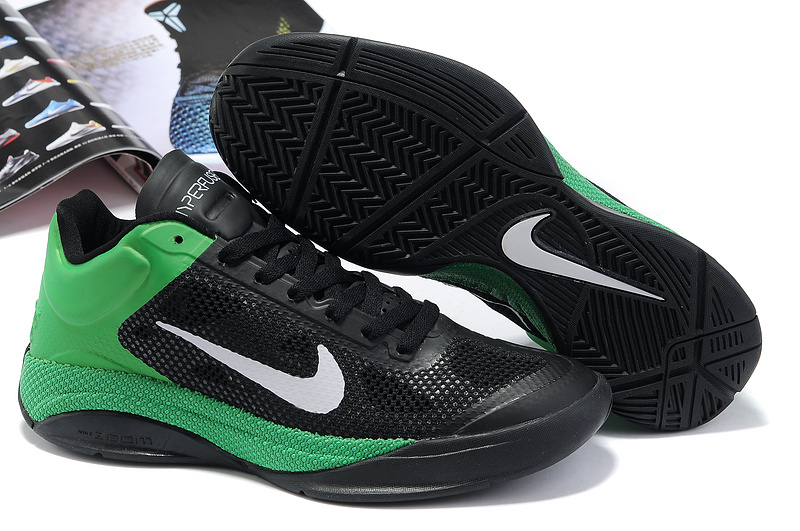 Nike Zoom Hyperfuse Low Black White Green Basketball Shoes
