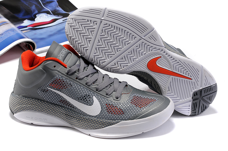 Nike Zoom Hyperfuse Low Cool Grey White Basketball Shoes