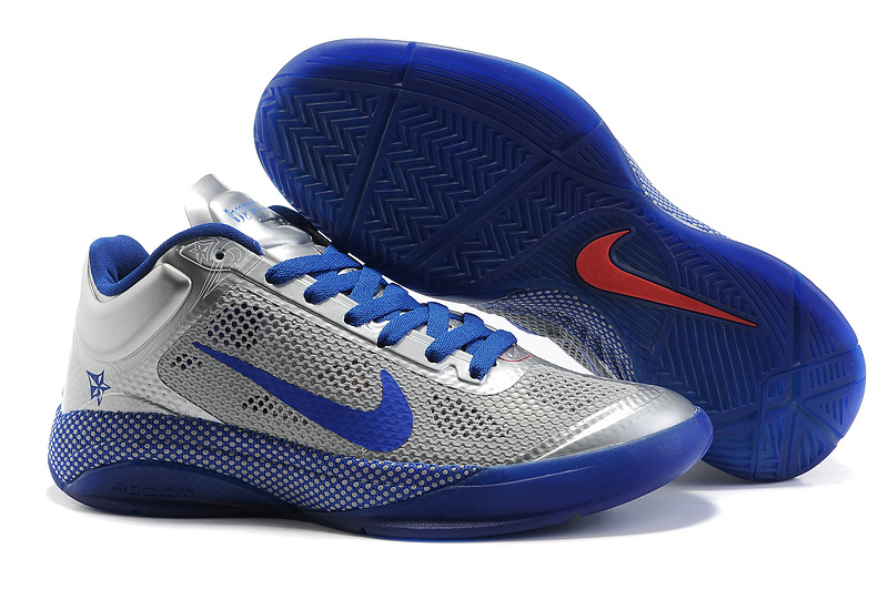 Nike Zoom Hyperfuse Low Sliver Blue World Champions Basketball Shoes