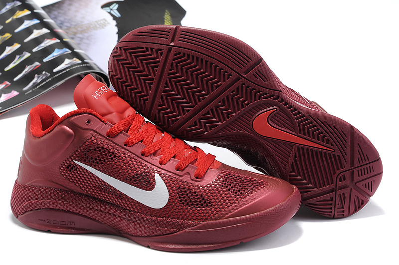 Nike Zoom Hyperfuse Low Wine Red White Basketball Shoes