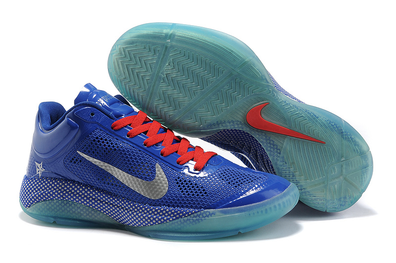 Nike Zoom Hyperfuse Low World Champions Jade Blue Sliver Basketball Shoes