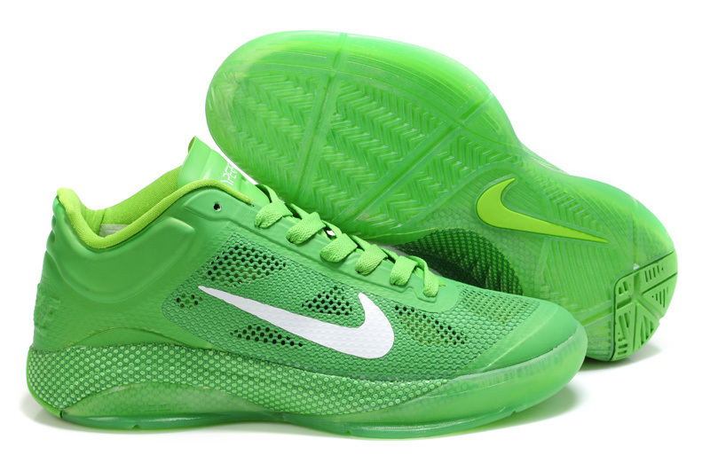 Nike Zoom Hyperfuse Low Green White Basketball Shoes