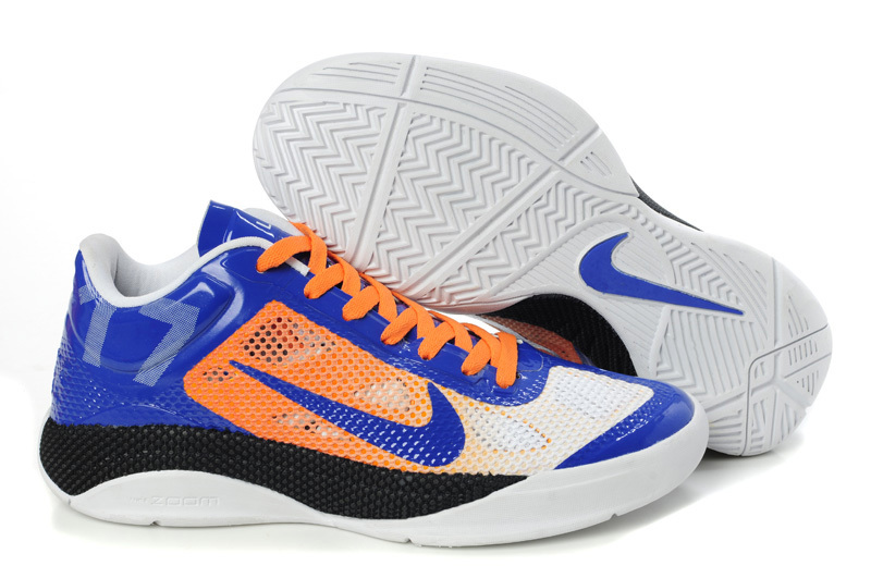 Nike Zoom Hyperfuse Low Jermy Lin Blue Orange White Basketabll Shoes