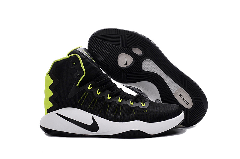 Nike hyperdunk 2016 Black Fluorescent green Basketball SHoes