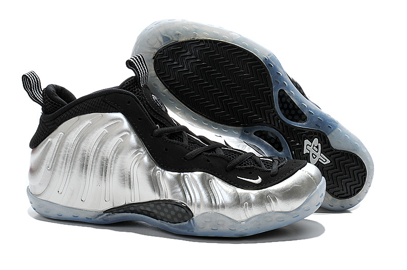 Nike Air Foam Penny Hardaway Silver Black Shoes