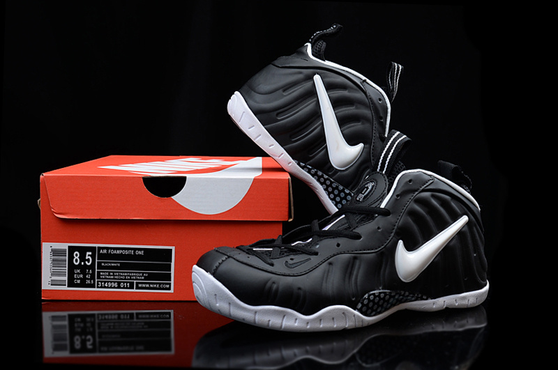 2016 Nike Air Foamposite Penny Black White Sneaker For Sale