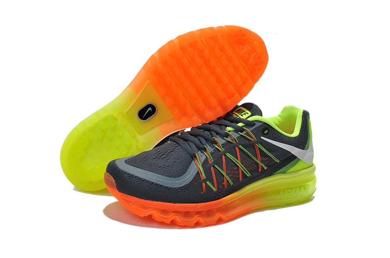 Nike Air Max 2015 Black Glow Green Orange Runnings