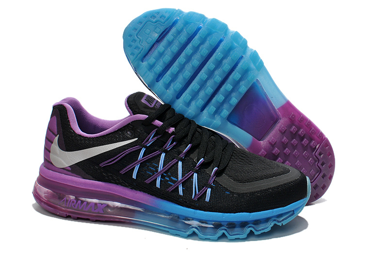 Nike Air Max 2015 Black Purple Blue Runnings