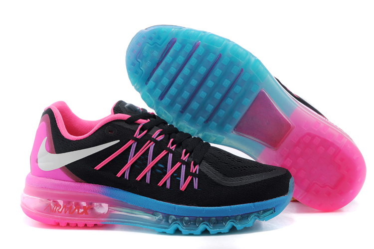 Nike Air Max 2015 Black Red Blue Runnings Shoes