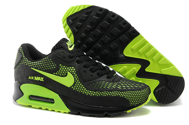 Nike Air Max 90 Black Green Running Shoes