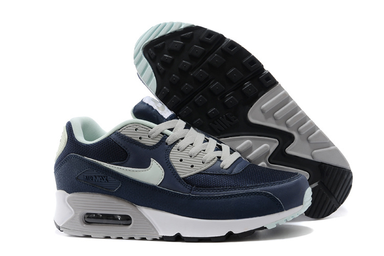 Nike Air Max 90 Classic Blue Grey White Running Shoes