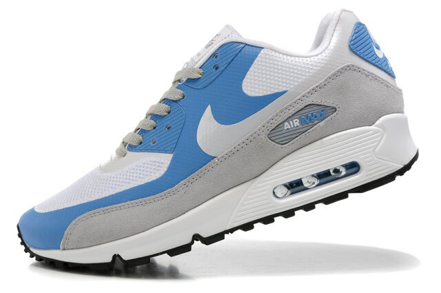 Nike Air Max 90 Premium White Blue Grey Runnings