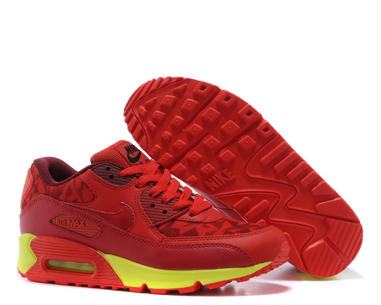 Nike Air Max 90 Red Men Running Shoes