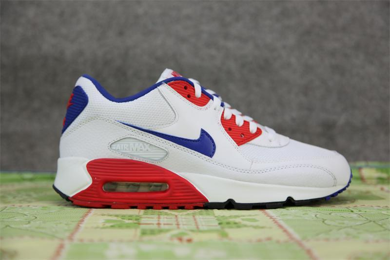Nike Air Max 90 White Red Running Shoes