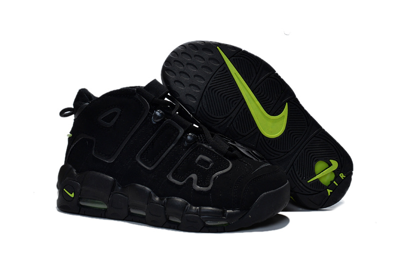 Women's Nike Air Pippen All Black Green Shoes