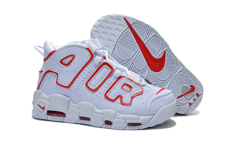 Women's Nike Air Pippen White Red Shoes