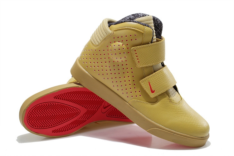 Nike Flystepper 2K3 Yeezy Gold Red Sole Shoes