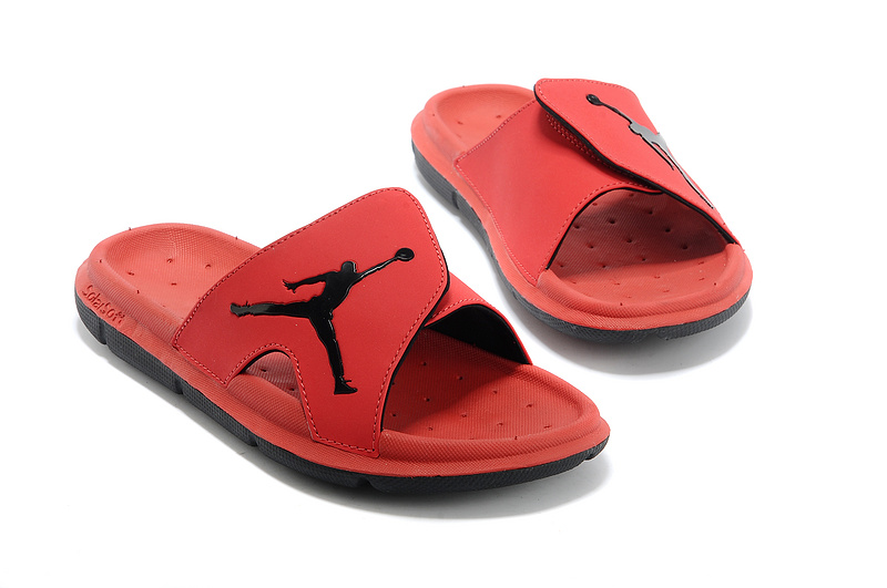 Nike Jordan Massage Hydro Classic All Red Black Logo Sandal