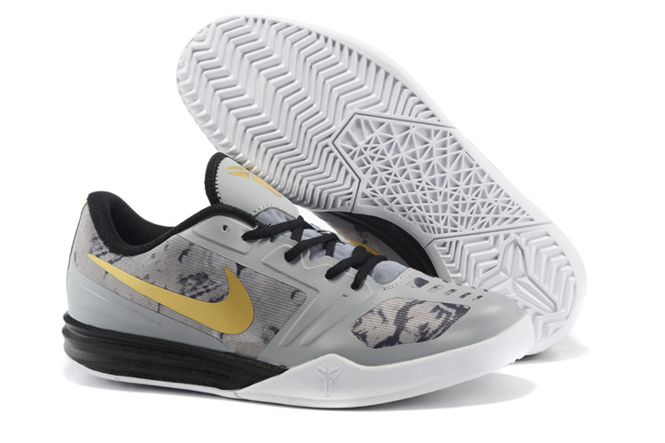 Nike Kobe Mentality Grey Black Gold Basketball Basketball Shoes