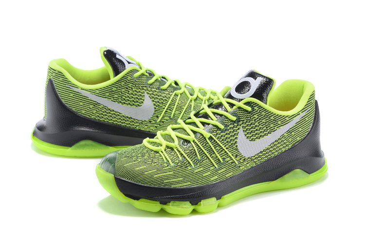 Nike KD 8 Fluorscent Green Black Basketball Shoes